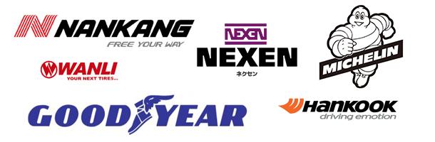 海外のタイヤメーカーのロゴ